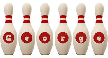 George bowling-pin logo