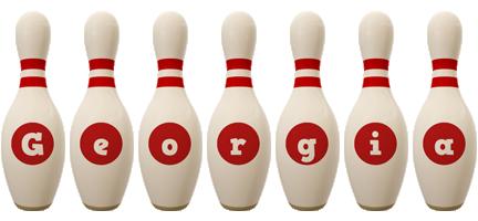 Georgia bowling-pin logo