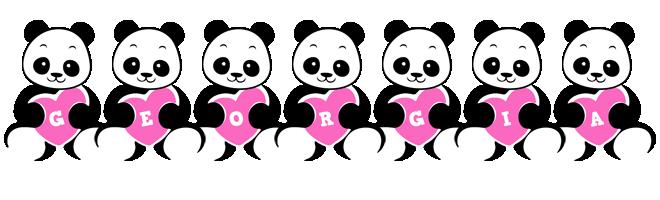 Georgia love-panda logo