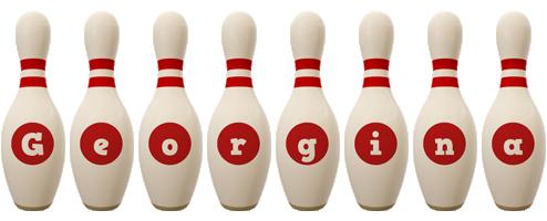 Georgina bowling-pin logo