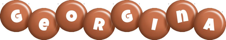 Georgina candy-brown logo