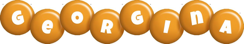 Georgina candy-orange logo