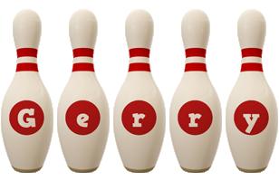 Gerry bowling-pin logo