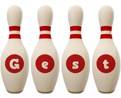 Gest bowling-pin logo