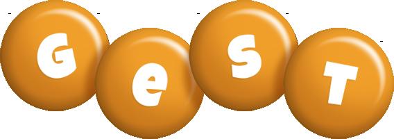 Gest candy-orange logo
