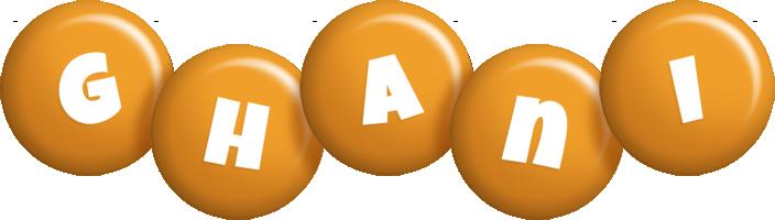 Ghani candy-orange logo