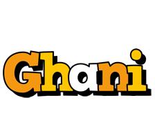 Ghani cartoon logo