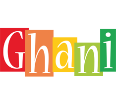 Ghani colors logo