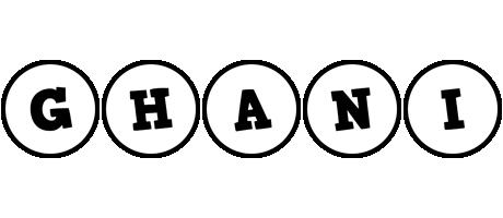 Ghani handy logo
