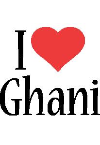 Ghani i-love logo