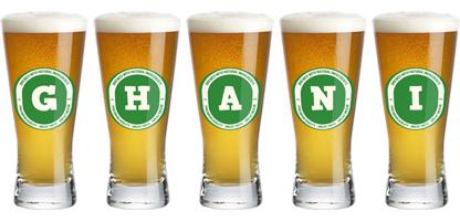 Ghani lager logo