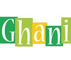 Ghani lemonade logo