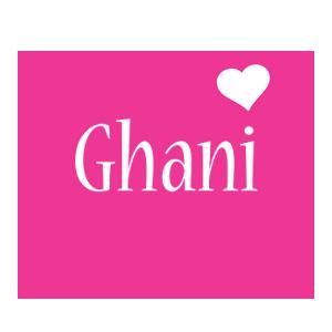 Ghani love-heart logo