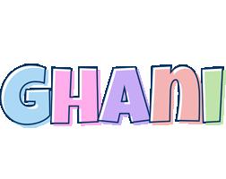 Ghani pastel logo