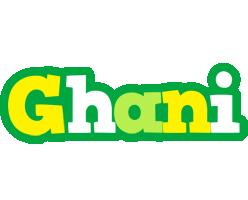 Ghani soccer logo