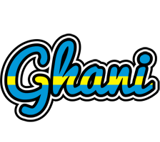 Ghani sweden logo