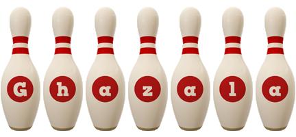 Ghazala bowling-pin logo