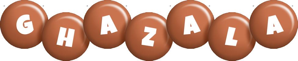 Ghazala candy-brown logo