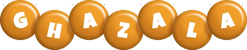 Ghazala candy-orange logo