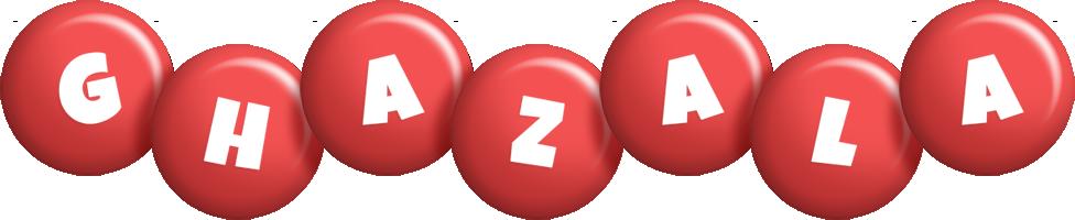 Ghazala candy-red logo