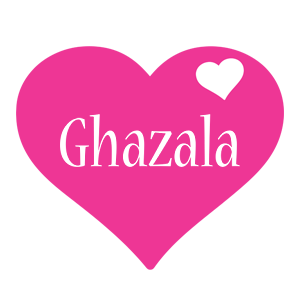 Ghazala love-heart logo