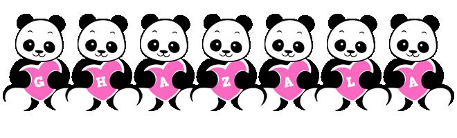 Ghazala love-panda logo