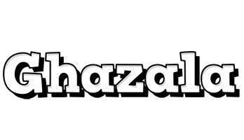 Ghazala snowing logo