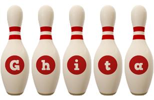 Ghita bowling-pin logo