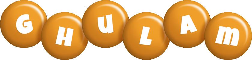 Ghulam candy-orange logo