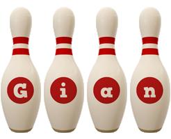 Gian bowling-pin logo