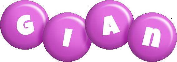 Gian candy-purple logo