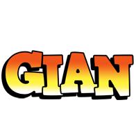 Gian sunset logo