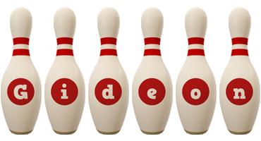 Gideon bowling-pin logo