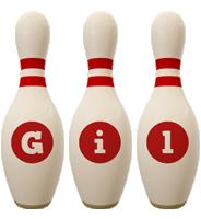 Gil bowling-pin logo