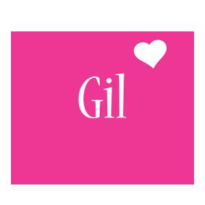 Gil love-heart logo