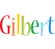 Gilbert birthday logo