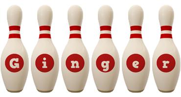 Ginger bowling-pin logo