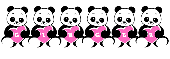 Ginger love-panda logo