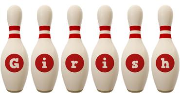 Girish bowling-pin logo