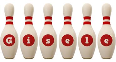 Gisele bowling-pin logo