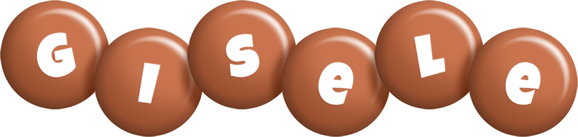 Gisele candy-brown logo
