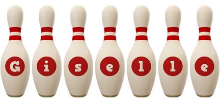 Giselle bowling-pin logo
