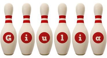 Giulia bowling-pin logo