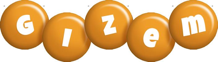 Gizem candy-orange logo