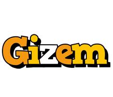 Gizem cartoon logo