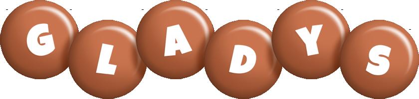Gladys candy-brown logo