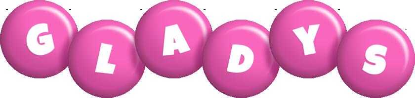 Gladys candy-pink logo