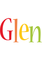 Glen birthday logo