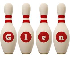 Glen bowling-pin logo