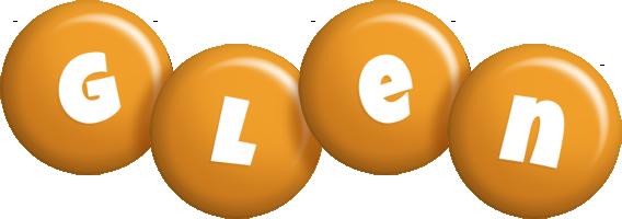 Glen candy-orange logo